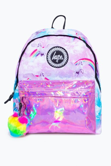 Hype. Pink Unicorn Holographic Backpack