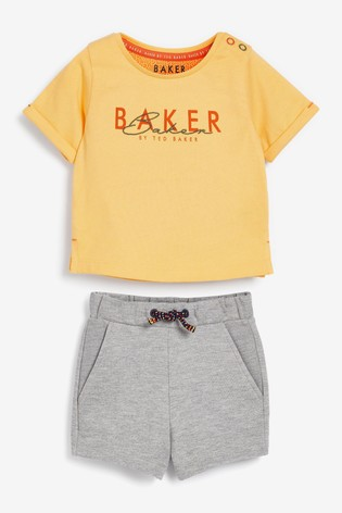 Baker by Ted Baker Jersey Top And Shorts Set