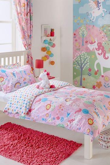 Little Furn Unicorn Duvet Cover and Pillowcase Set by Furn