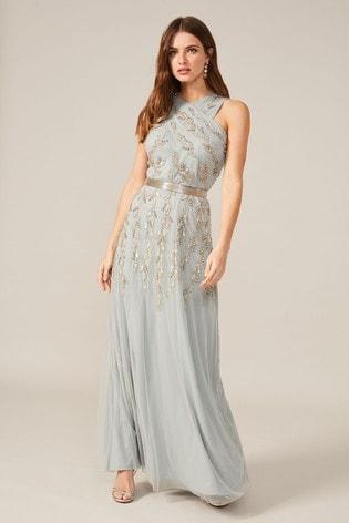 Phase Eight Blue Hallie Embellished Maxi Dress