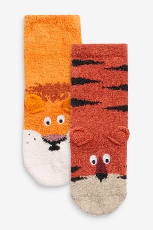 Lion/Tiger 2 Pack Cosy Socks