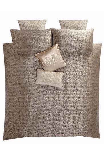 Tess Daly Natural Lux Duvet Cover and Pillowcase Set