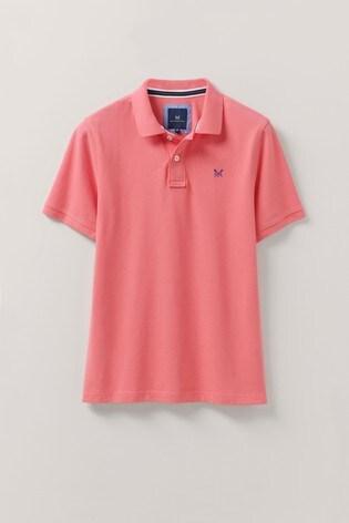 Crew Clothing Company Coral Classic Pique Polo