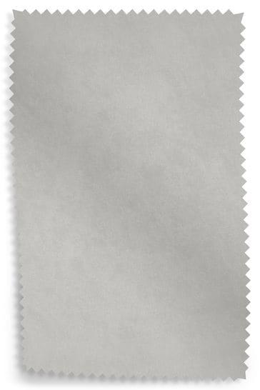 Opulent Velvet Light Grey Upholstery Fabric Sample