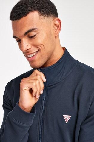 Guess Navy Zip Sweater
