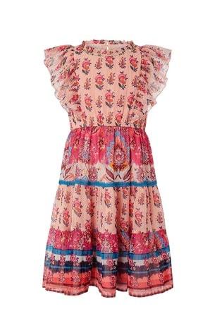 Monsoon Orange S.E.W Coral Paisley Dress