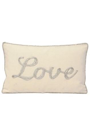 Riva Home Silver Christmastide Love Cushion