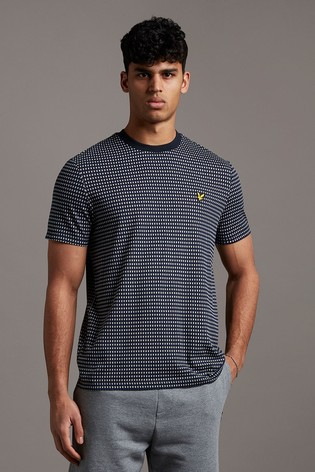 Lyle & Scott Navy Retro Repeat T-Shirt