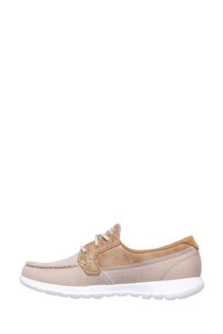 Skechers® Natural GOWalk Lite Coral Ladies Summer Shoes