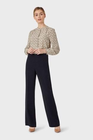 Hobbs Blue Maya Trousers