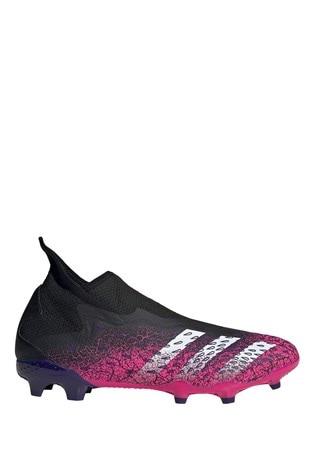 adidas Black Predator P3 Laceless Firm Ground Football Boots