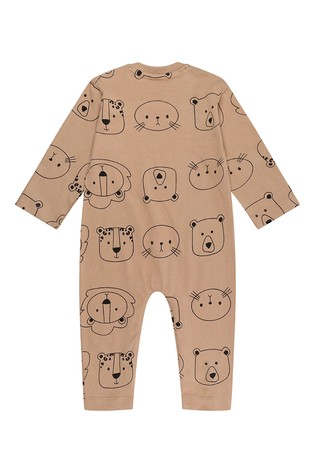 Turtledove London Rust Cub Faces Organic Cotton Playsuit