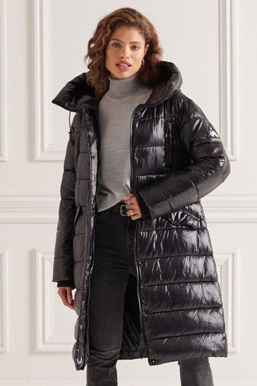 Superdry High Shine Duvet Coat
