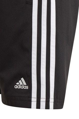 adidas Black 3 Stripe Woven Shorts