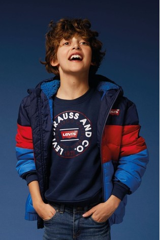 Levi's® Kids Navy Colourblock Padded Jacket