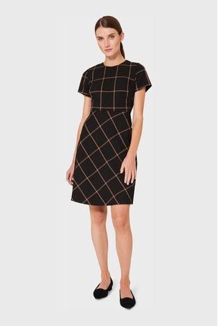 Hobbs Black Evie Dress