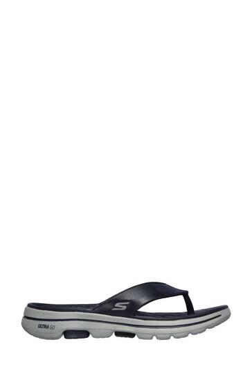 Skechers® Blue Go Walk 5 Cabana Sandals