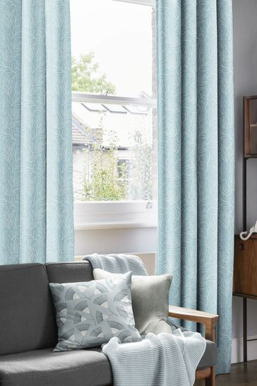 Laurus China Blue Made To Measure Curtains by MissPrint