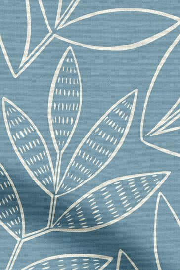 MissPrint Blue Laurus Made To Measure Curtains