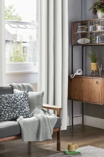 MissPrint Grey Laurus Made To Measure Curtains