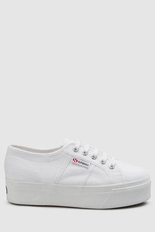 Superga®白色帆布2790厚底
