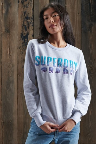 Superdry Limited Edition Embroidery Fade Crew Sweatshirt