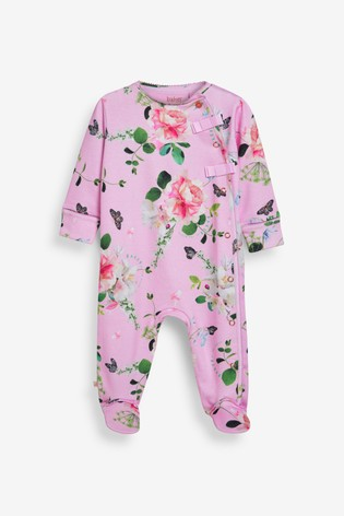 Baker by Ted Baker Pink Sleepsuits 2 Pack