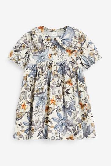 Blue/Ecru Tea Dress (3mths-7yrs)