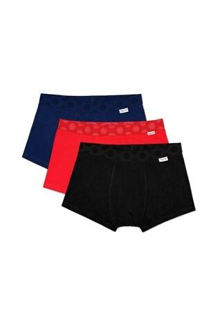 Happy Socks Black Trunks Three Pack