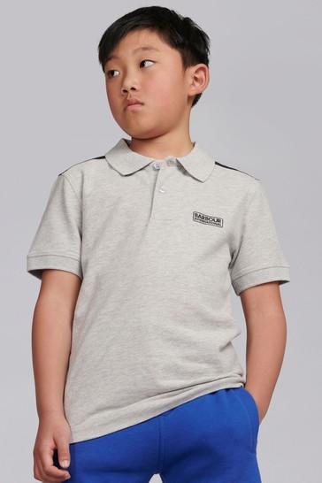 Barbour® International Boys Grey Tape Polo Shirt