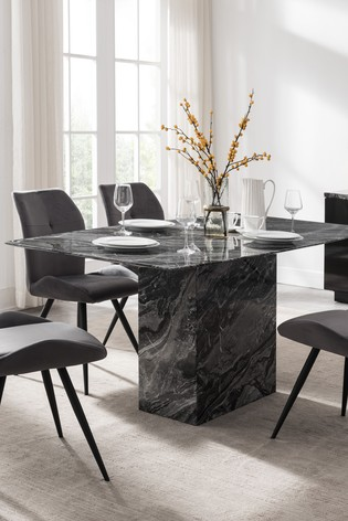 Indigo Dining Table with 6 Chairs by Alfrank