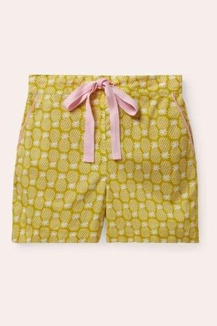 Boden Yellow Phoebe PJ Shorts