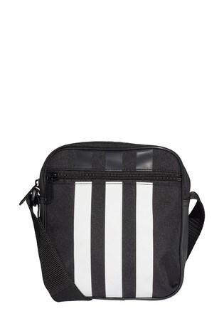 adidas Black 3 Stripe Small Item Bag