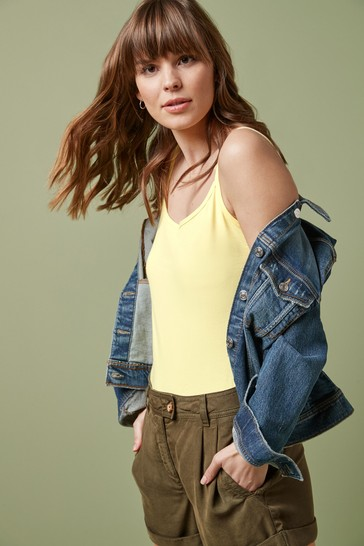 Yellow Thin Strap Vest