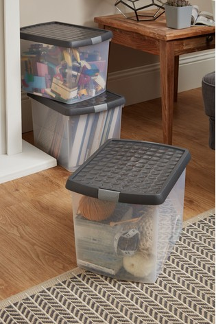 Set of 3 Clip 21L Boxes by Wham