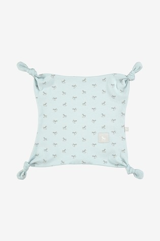 The Little Tailor Blue Print Rocking Horse Jersey Comforter