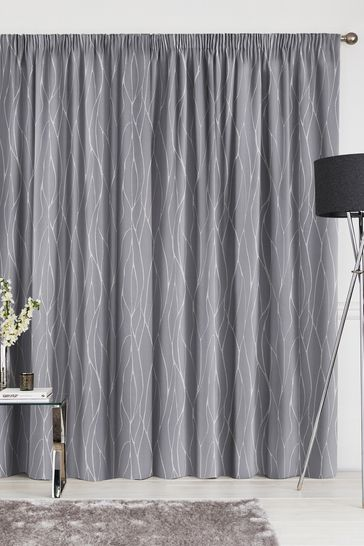 Legna Graphite Grey Made To Measure Curtains