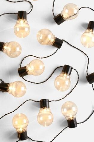 Set of 40 Mains Powered Chrome Finish Festoon Line Lights