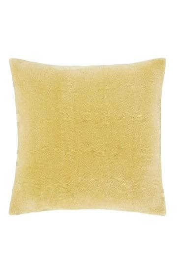Catherine Lansfield Yellow Raschel Extra Large Cushion