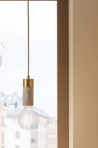 Frowick Concrete And Brushed Chrome Ceiling Light by Pacific