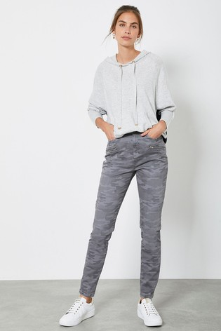 Mint Velvet Jackson Grey Camo Skinny Jeans