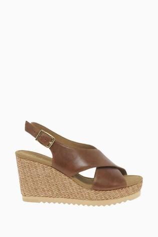 Gabor Warbler Peanut Leather Sandals