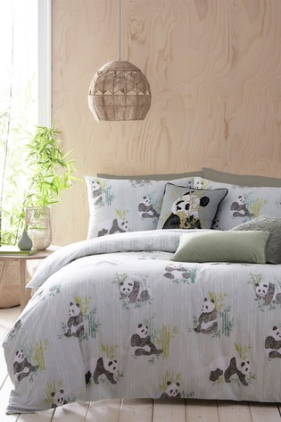 Pandas Duvet Cover and Pillowcase Set by Furn