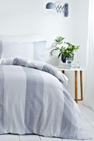 Signature Stripe Duvet Cover and Pillowcase Set by Riva Home