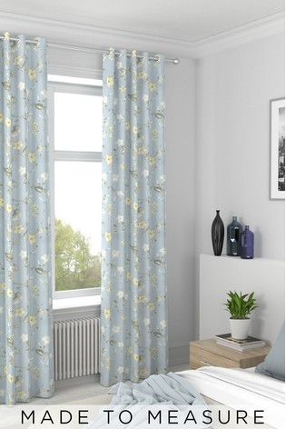 Grange Forget Me Not Blue Made To Measure Curtains