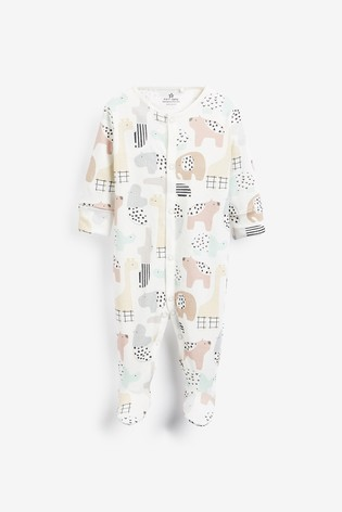 Pastel 3 Pack GOTS Organic Character Sleepsuits (0mths-2yrs)
