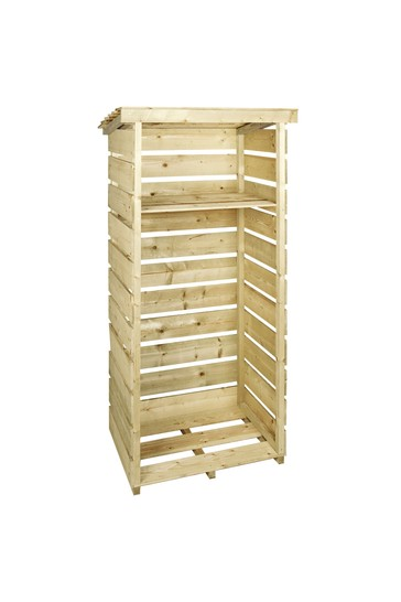 Wooden Single Tall Log Store By Charles Bentley