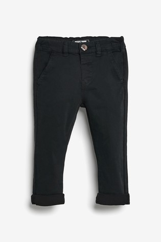 Black Stretch Chinos (3mths-7yrs)