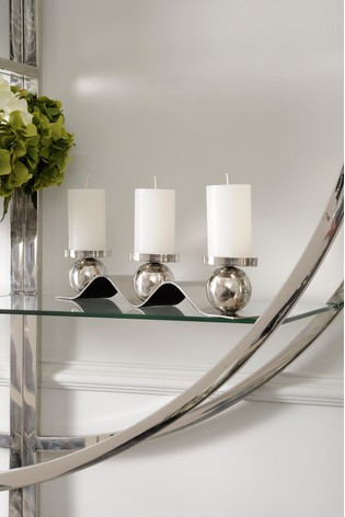 Libra Wave Design Small Candle Holder