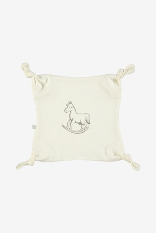 The Little Tailor Cream All Over Print Rocking Horse Jersey Comforter
